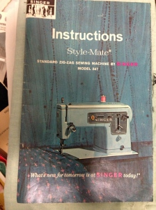 a 1966 Singer instruction manual, perhaps valuable on ebay. my sewing box matches the beautiful blue color.